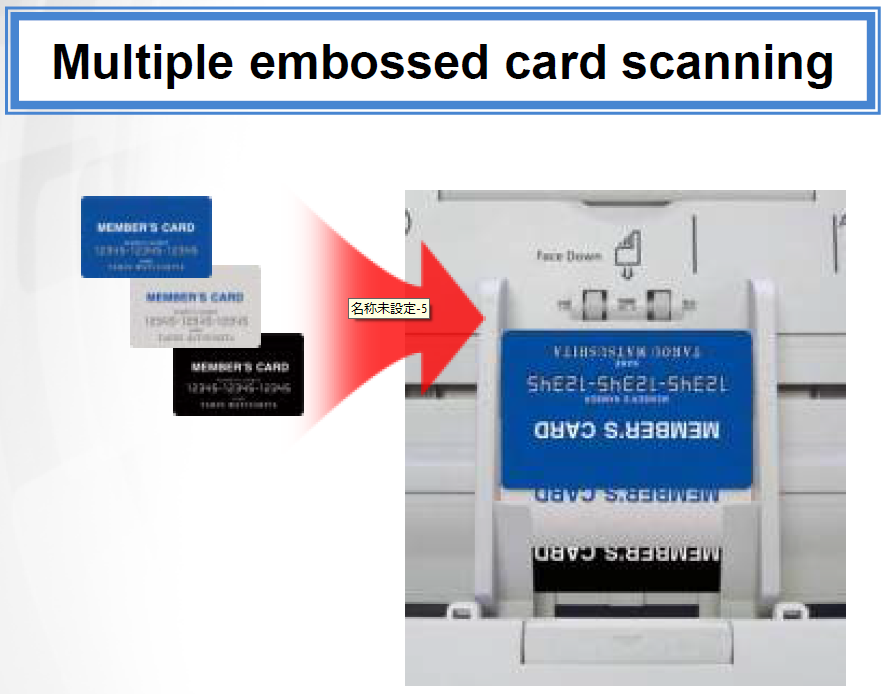 panasonic multiple embossed card scanning